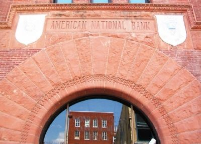 German-American Bank Brickwork image. Click for full size.