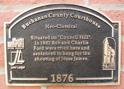 Buchanan County Courthouse Marker image. Click for full size.