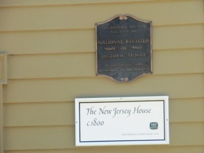 The New Jersey House Marker image. Click for full size.