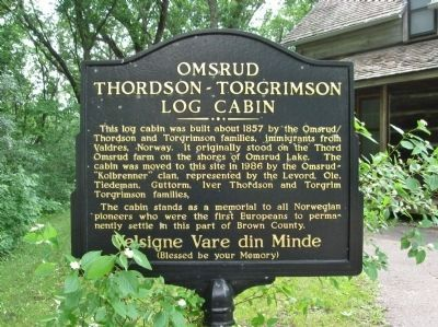 Omsrud Thordson – Torgrimson Log Cabin Marker image. Click for full size.