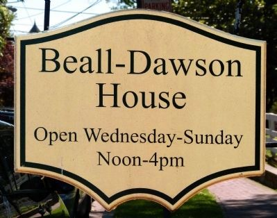 Beall-Dawson House Sign image. Click for full size.