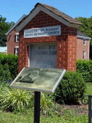 Rockville Methodist Episcopal Church - Jerusalem/Mount Pleasant Marker image. Click for full size.