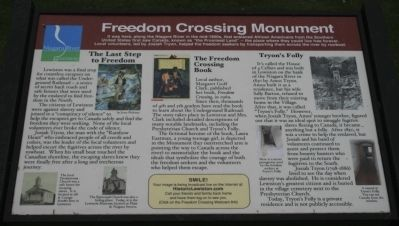 Freedom Crossing Monument Marker image. Click for full size.