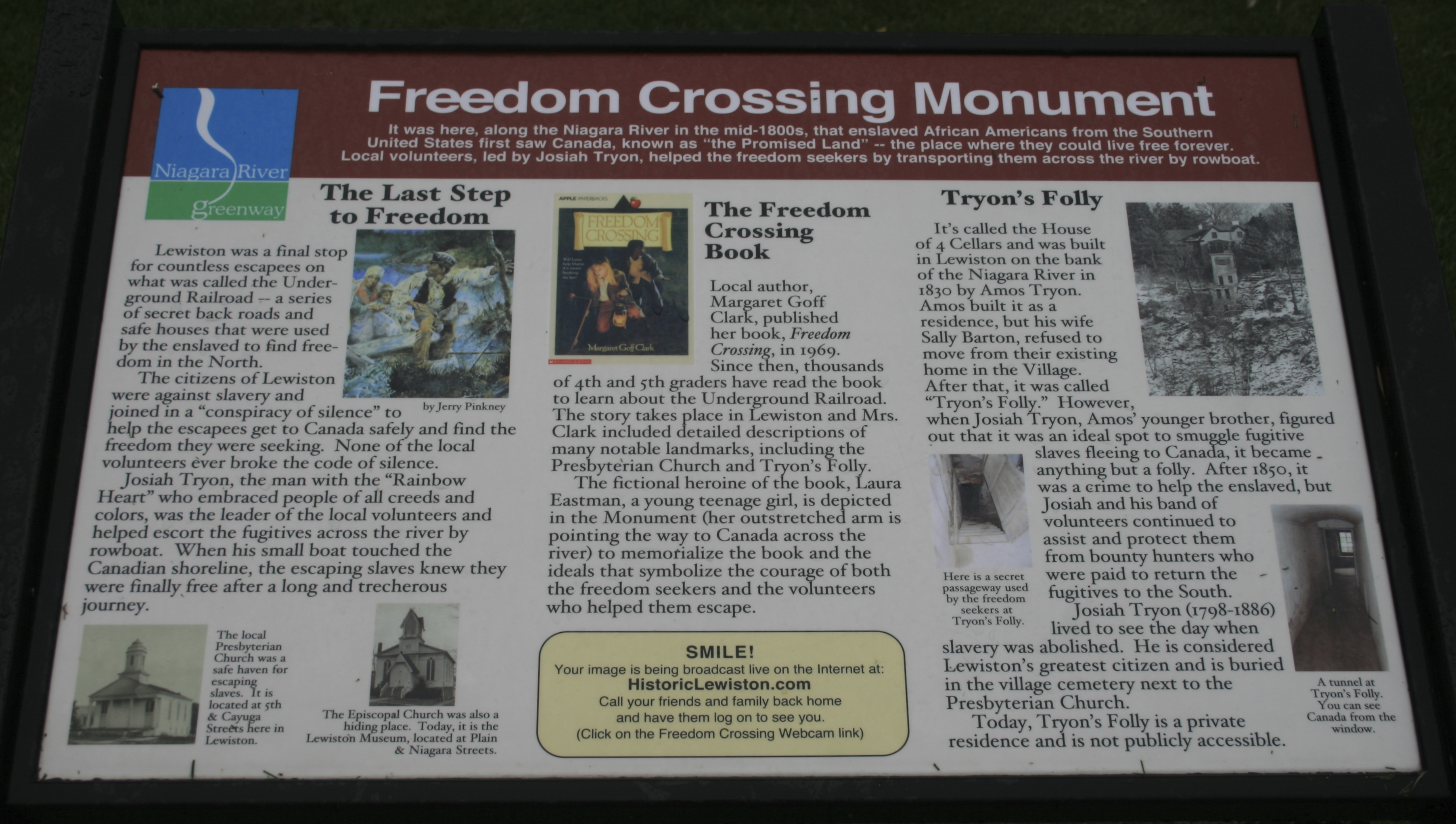 Freedom Crossing Monument Marker