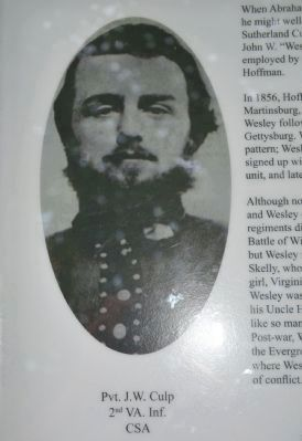 Private John Wesley Culp image. Click for full size.