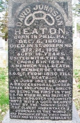 David Johnson Heaton Marker image. Click for full size.