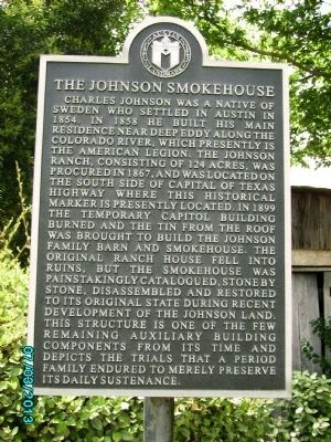 The Johnson Smokehouse Marker image. Click for full size.