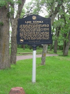 Lake Hanska Marker image. Click for full size.
