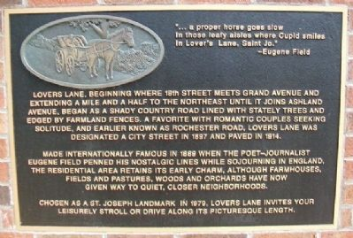 Eugene Field's Lovers Lane Marker image. Click for full size.