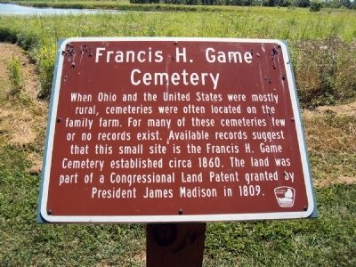 Francis H. Game Cemetery Marker image. Click for full size.