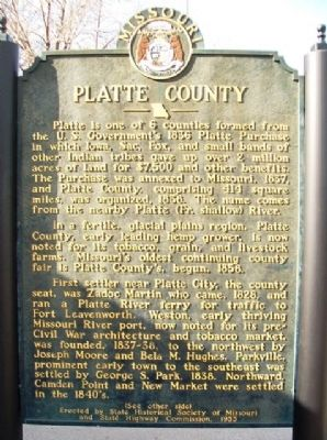 Platte County Marker (front) image. Click for full size.