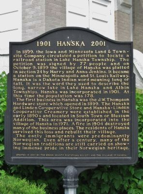 Hanska Marker image. Click for full size.