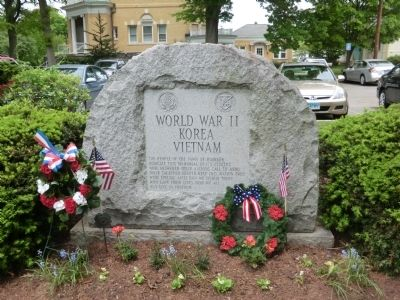 Memorial to World War II, Korea, and Vietnam Veterans Marker image. Click for full size.