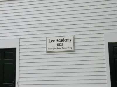 Lee's Academy Marker image. Click for full size.