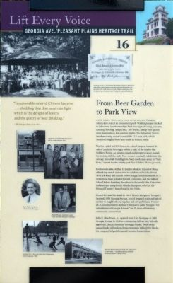 From Beer Garden to Park View Marker image. Click for full size.