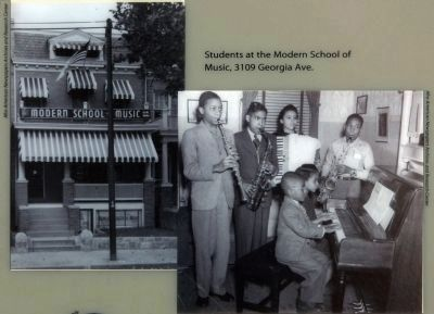 Students at the Modern School of Music, 3109 Georgia Ave. image. Click for full size.