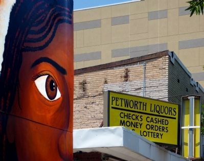 The Daughter of Oshun<br>overlooks Petworth Liquors image. Click for full size.