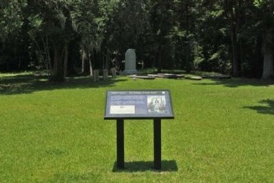 Fateful Choices - The Hanging Of Isaac Hayne Marker and the State Memorial, seen in background image. Click for full size.