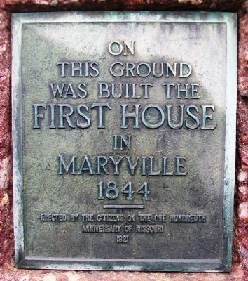 First House in Maryville Marker image. Click for full size.