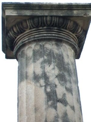 Column Capital Detail at First House in Maryville Marker image. Click for full size.