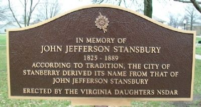 John Jefferson Stansbury Marker image. Click for full size.