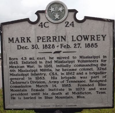 Mark Perrin Lowrey Marker image. Click for full size.
