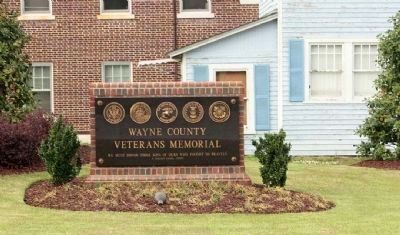 Wayne County Veterans Memorial Marker image. Click for full size.