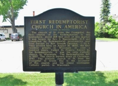 First Redemptorist Church in America Marker image. Click for full size.