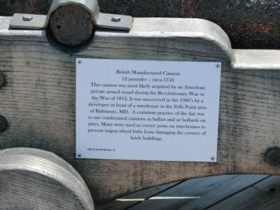 British Manufactured Cannon Marker image. Click for full size.