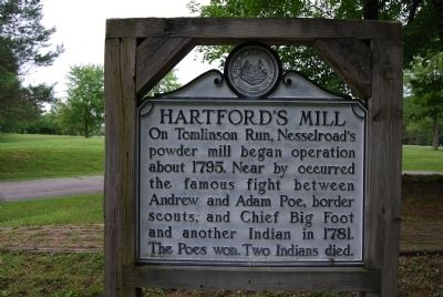 Hartford's Mill Marker image. Click for full size.