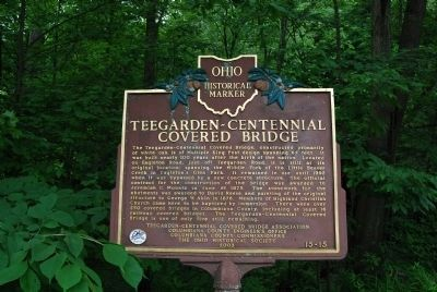 Teegarden-Centennial Covered Bridge Marker image. Click for full size.