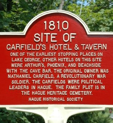 Garfield's Hotel & Tavern Marker image. Click for full size.