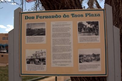 Don Fernando de Taos Plaza Marker image. Click for full size.