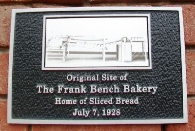 Original Site of the Home of Sliced Bread Marker image. Click for full size.