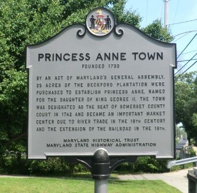 Princess Anne Town Marker image. Click for full size.