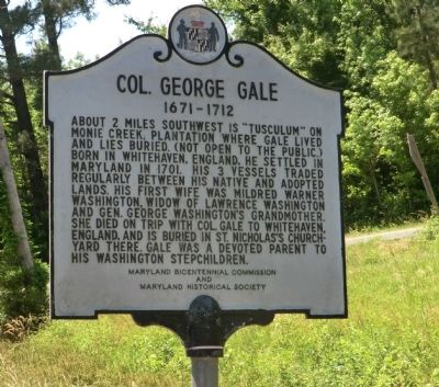 Col. George Gale Marker image. Click for full size.