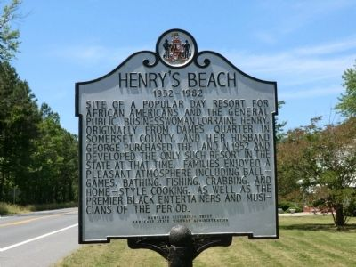 Henry's Beach Marker image. Click for full size.