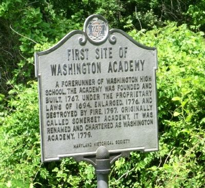 First Site of Washington Academy Marker image. Click for full size.