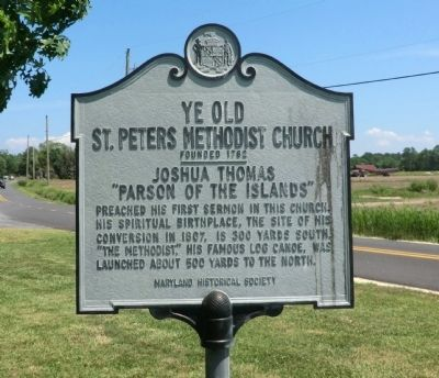 Ye Old St. Peters Methodist Church-Founded 1782 Marker image. Click for full size.