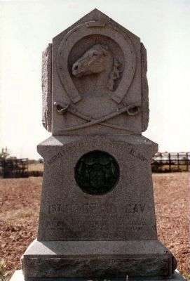 1st Regiment Maryland Cavalry Marker image. Click for full size.
