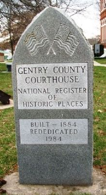 Gentry County Courthouse NRHP Marker image. Click for full size.