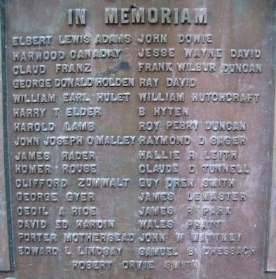 World War Memorial Roll of Honored Dead image. Click for full size.