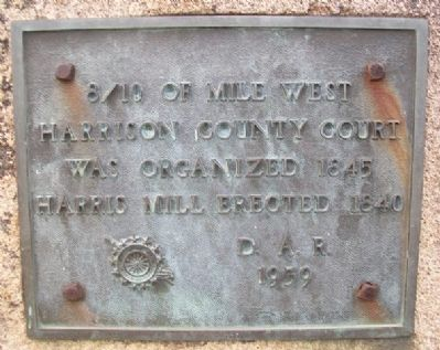 Harrison County Court Marker image. Click for full size.