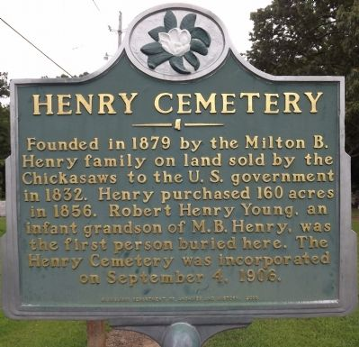 Henry Cemetery Marker image. Click for full size.
