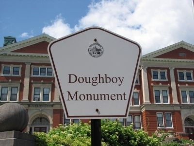 Doughboy Monument sign image. Click for full size.