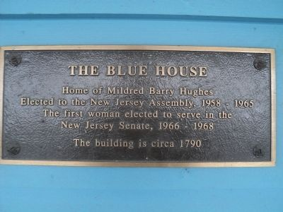 The Blue House Marker image. Click for full size.