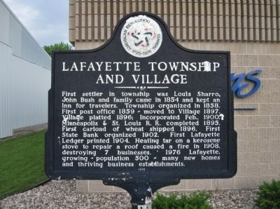 Lafayette Township and Village Marker image. Click for full size.