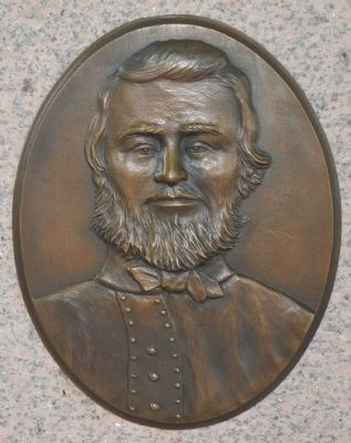 Bronze Bas Relief of Private John Wesley Culp image. Click for full size.