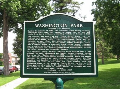 Washington Park Marker image. Click for full size.