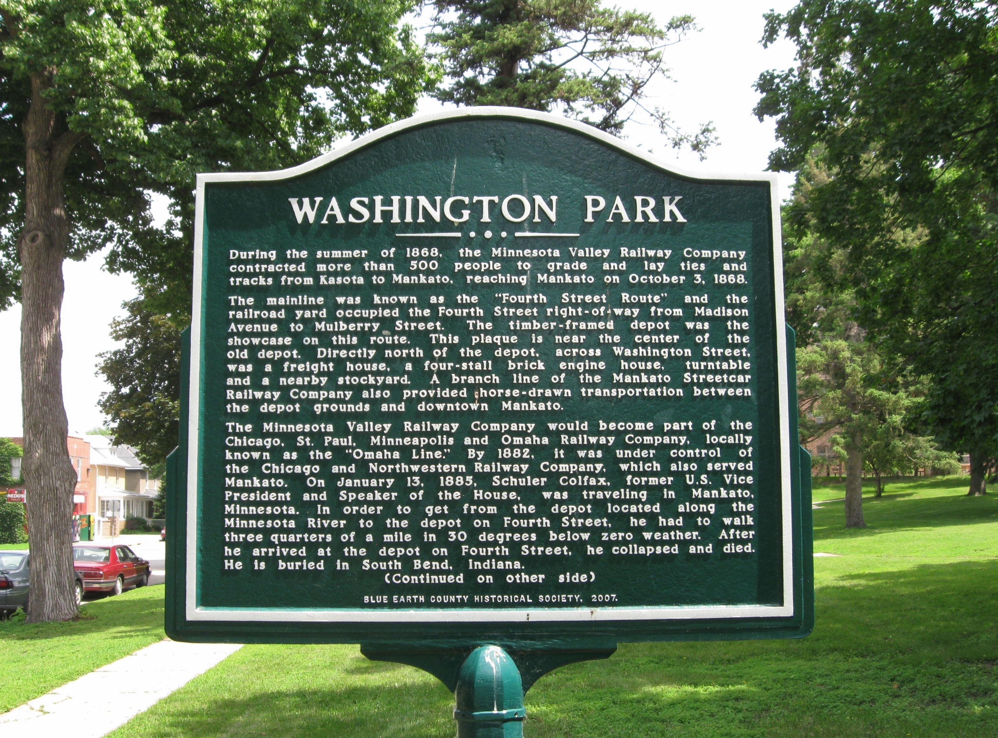 Washington Park Marker